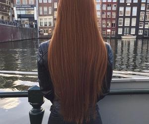 fashion, long hair, and shine silky bright image