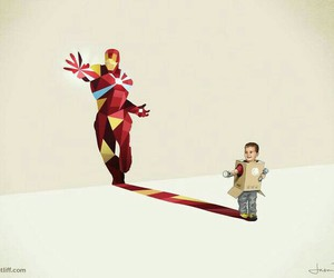 kids, imagination, and ironman image
