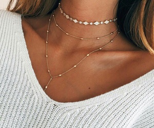 clothes, tan, and jewelry image