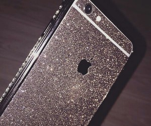 glitter, iphone, and tech image