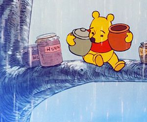 disney, rain, and winnie the pooh image