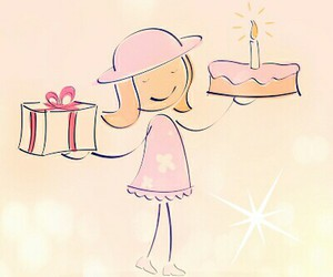 birthday, cake, and gifts image