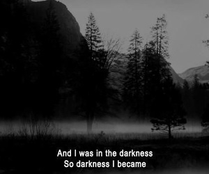 Darkness, sad, and quotes image