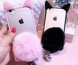 iphone, case, and cat image