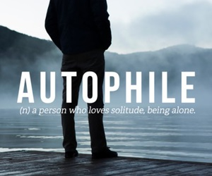 alone, solitude, and words image