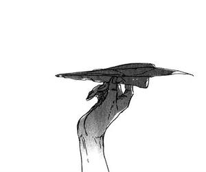 black and white, manga, and anime image