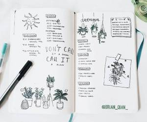 bullet journal, planner, and bujo image