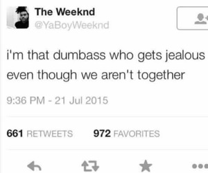 quote, sad, and the weeknd image