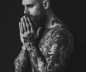 tattoo, man, and guy image