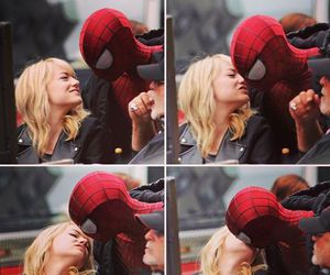 emma stone, spiderman, and andrew garfield image