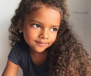 kids, beautiful, and curly hair image