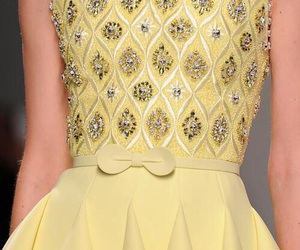 fashion, Georges Hobeika, and yellow image
