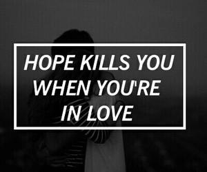 hope, love, and sad image