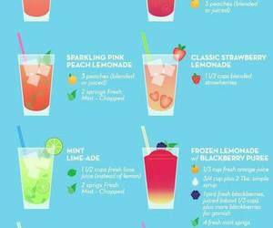 lemonade, drink, and summer image