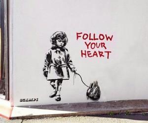 heart, art, and follow image