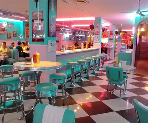 50s, diner, and pink image