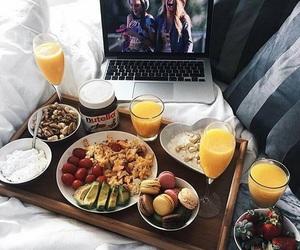 breakfast, nutella, and food image