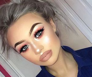 beautiful, eyebrow, and highlight image