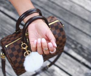 Louis Vuitton, speedy, and french nails image