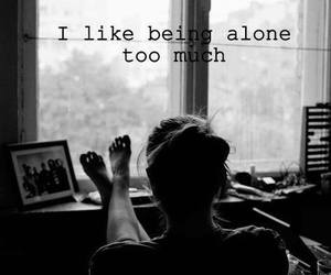 alone, grunge, and black and white image
