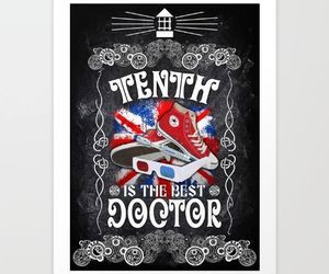 art print, david tennant, and doctor who image
