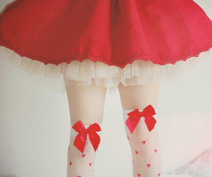 red, skirt, and bow image