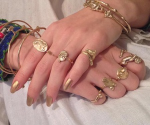bracelets, deluxe, and gold image