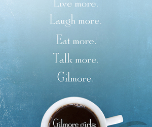 gilmore girls, coffee, and netflix image