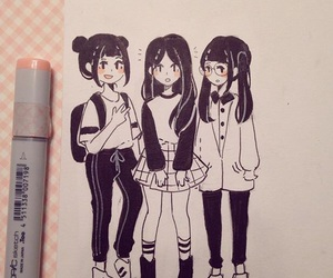 draw, girls, and friends image