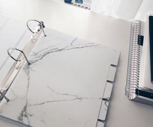 college, decor, and desk image