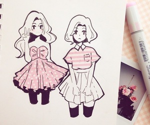 girls, japan, and copic image