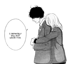 ao haru ride, couple, and manga image