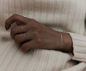 aesthetic, rings, and gold image