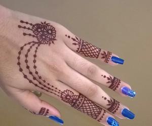 blue, henna, and india image