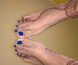 indian, nails, and feet image