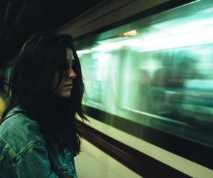 girl, grunge, and train image