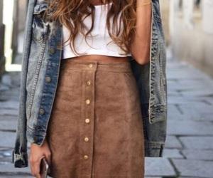 fashion, Girls Fashion, and jeans jacket image