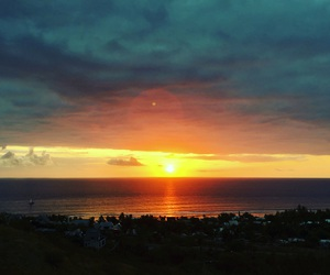 landscape, sunset, and reunionisland image