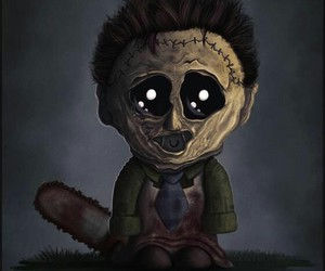 leatherface, cute, and horror image
