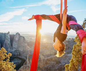 acrobat, canyon, and outdoors image