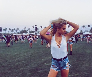 coachella, fashion, and summer image