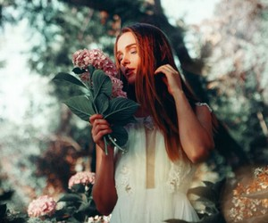 beauty, garden, and model image