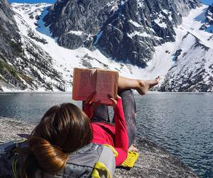 book and mountains image