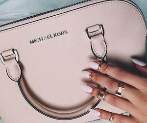bag, nails, and Michael Kors image