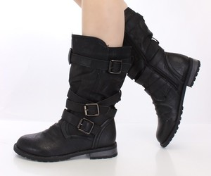 army boots, women boots, and black boot image