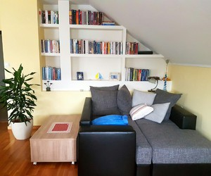 books, calmness, and couch image