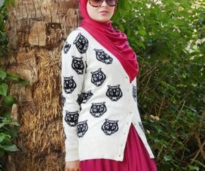 boots, hijabista, and hijab fashion look image