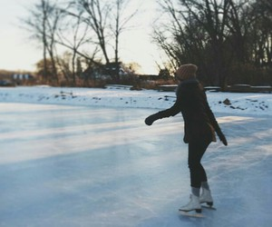 winter, girl, and ice image