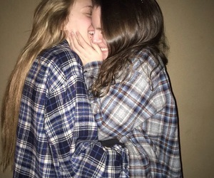 blonde, love is love, and brunette image