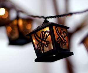 light, lantern, and winter image